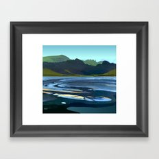 Low Tide, Late Evening Framed Art Print