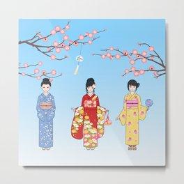Kimono Basics Metal Print