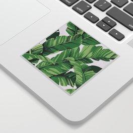 Tropical banana leaves V Sticker
