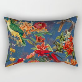 Vintage & Shabby Chic - Night Tropical Bird Garden Rectangular Pillow