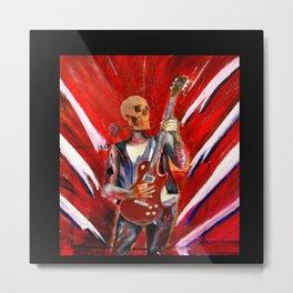 Fantasy art heavy metal skull guitarist Metal Print