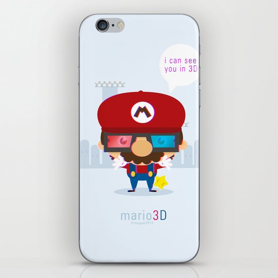 mario 3d iPhone & iPod Skin