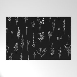 Black wildflowers Welcome Mat
