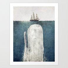 The Whale - vintage  Art Print