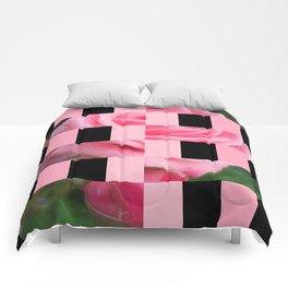 Pink Roses in Anzures 2 Art Rectangles 15 Comforters