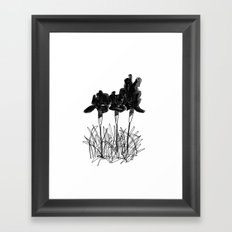 Dark Iris Framed Art Print