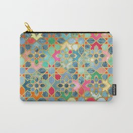 Gilt & Glory - Colorful Moroccan Mosaic Carry-All Pouch