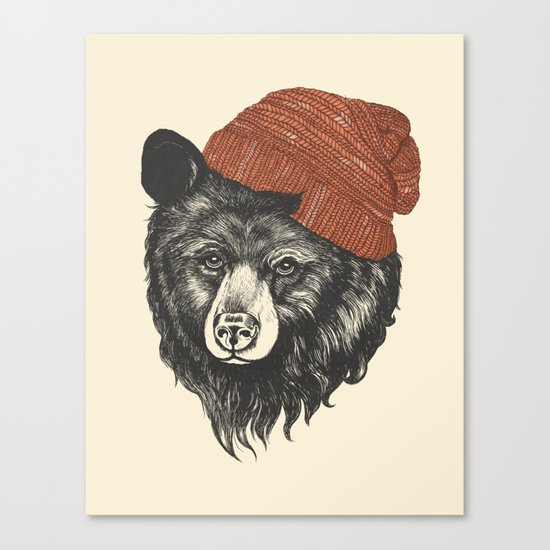 zissou the bear Canvas Print