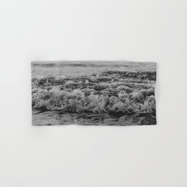 Black and White Pacific Ocean Waves Hand & Bath Towel