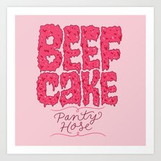 Beefcake Pantyhose Art Print