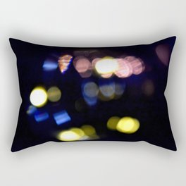 Black bokeh Rectangular Pillow