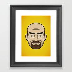 Faces of Breaking Bad: Walter White Framed Art Print