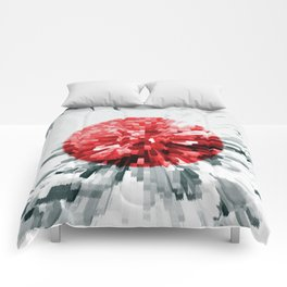 Japanese Flag Extrude Comforters