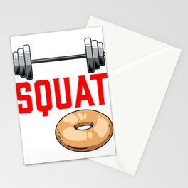 Fitness Coach Trainer Funny Will Squat For Donut Stationery Cards