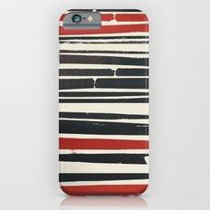 Navy Red Stripes Slim Case iPhone 6s