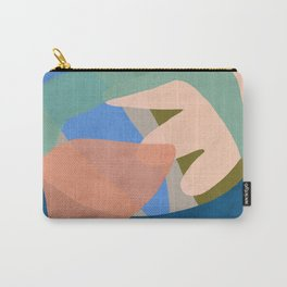 Shapes and Layers no.30 - Large Organic Shapes Blue Pink Green Gray Carry-All Pouch