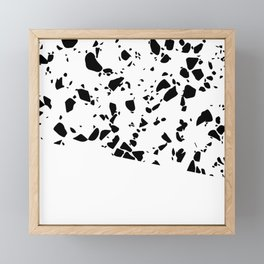 Terrazzo Texture Black and White #8 Framed Mini Art Print