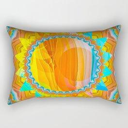 Moon and Sun Mandala Design Rectangular Pillow