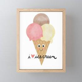 I Love Ice Cream Framed Mini Art Print