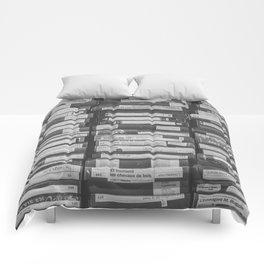 VHS Retro (Black and White) Comforters