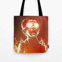 food Tote Bags featuring FIREEE! by Dr. Lukas Brezak