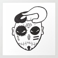 Skull Boy Art Print