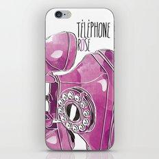 Téléphone Rose  iPhone & iPod Skin