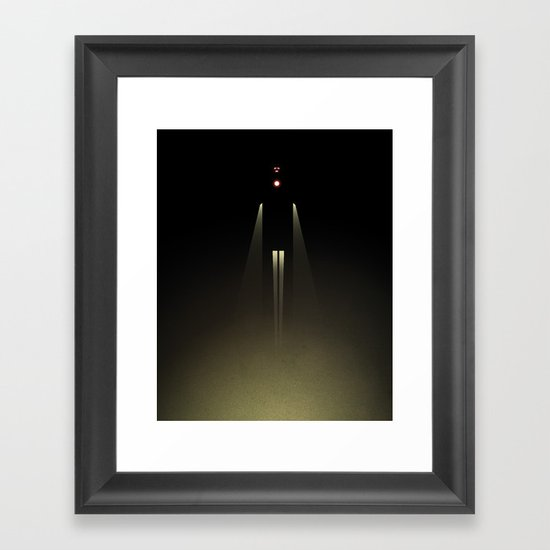 Smooth Heroes - an iron light in the sky Framed Art Print