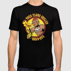 Yoga Flame Grilled BBQ Mens Fitted Tee Black MEDIUM