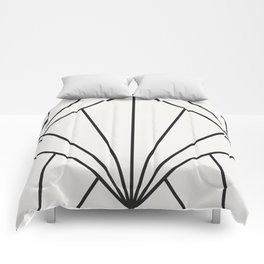 Diamond Series Sun Burst Charcoal on White Comforters