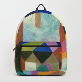 Paul Klee - Digital Remastered Edition - Colorful Architecture Backpack