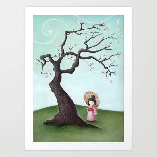 Japanese Cherry Tree Art Print