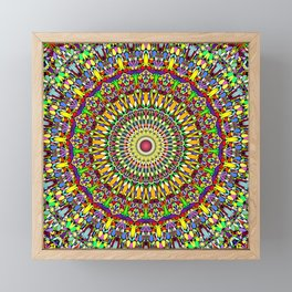 Happy Colorful Jungle Garden Mandala Framed Mini Art Print