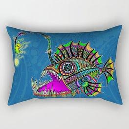 Electric Angler Fish Rectangular Pillow