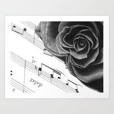 Music and Romance Art Print