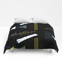 Geometric shapes artistic composition Comforters