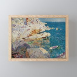 Joaquin Sorolla y Bastida, Rocks of Javea, 1905 Framed Mini Art Print