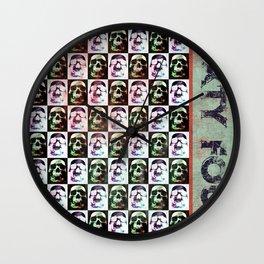 Sixty Four Skulls Wall Clock