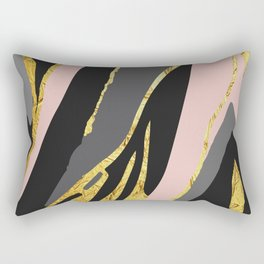 Gold and pale river Rectangular Pillow
