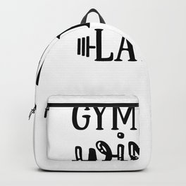 Gym Design Gym Now Wine Later Backpack