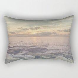 Flat rocks sunset Rectangular Pillow