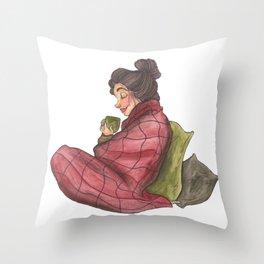 Snuggled Up Throw Pillow