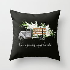 White Flower Farm Throw Pillow