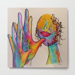 American Sign Language Grandmother Metal Print