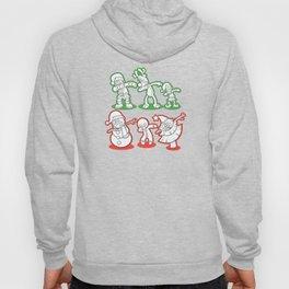 Dabbing Santa Reindeer Elf Snowman Gingerbread Hoody
