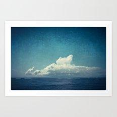 cloud over island Art Print