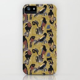 Birds of Prey in Gold iPhone Case
