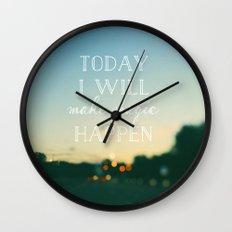 Today I Will Make Magic Wall Clock