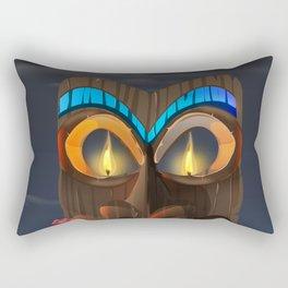 Tribal Carved Face Rectangular Pillow