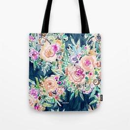 SO RICH Dark Boho Floral Tote Bag